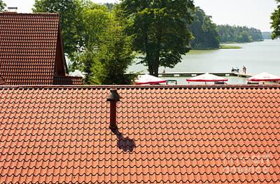 Metal Tiles Sheet Roof View Print by Arletta Cwalina