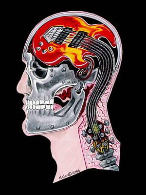 Music Drawing - Metalhead by Kalen Malueg