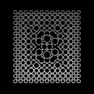 Metallic Lace Axxxv Print by Robert Krawczyk