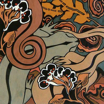 Metallic Salamanders Original by Susan Lishman