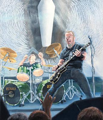 Metallica Painting - Metallica Panorama- Center Panel by Steven Assmann