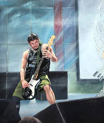Metallica Painting - Metallica Panorama- Left Panel by Steven Assmann