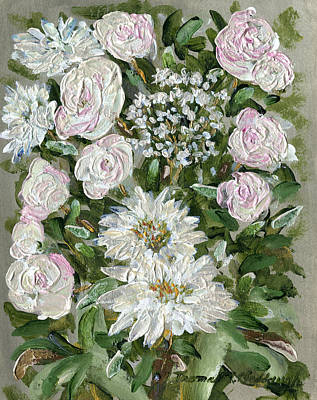 Metallica Painting - Metallica Roses And Mums by Thomas Michael Meddaugh