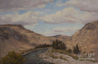 Methow Valley Painting - Methow Valley River by Nora Egger