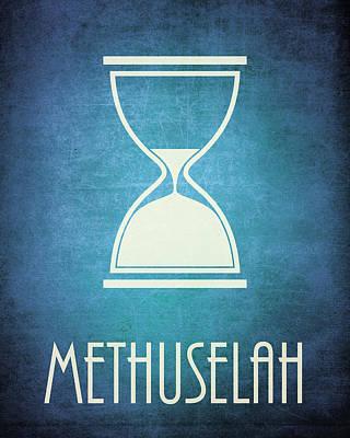Old Testament Digital Art - Methuselah Icon Bible Minimal Art by Brett Pfister