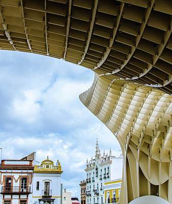 Europe Photograph - Metropol Parasol - Details 2 by Andrea Mazzocchetti