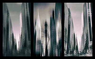 Metropolis Triptych 3 Print by Jessica Jenney