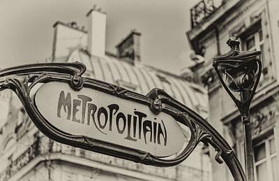 Metropolitain Print by Pablo Lopez