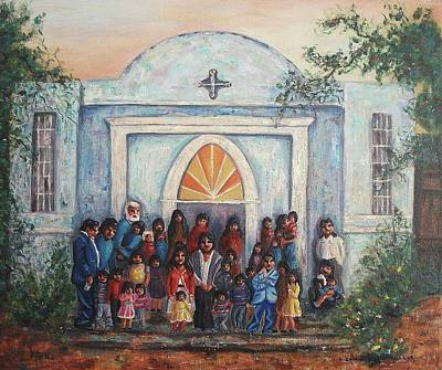 Suzanne Marie Leclair Painting - Mexican Church by Suzanne  Marie Leclair