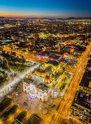 Twilight Views Photograph - Mexico City Twilight by Inge Johnsson
