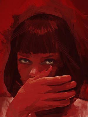 Samuel L Jackson Painting - Mia Wallace - Pulp Fiction by Afterdarkness