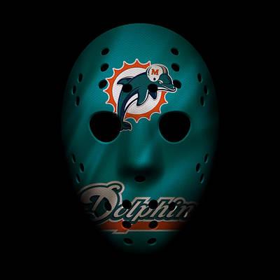 Miami Dolphins War Mask 2 Print by Joe Hamilton