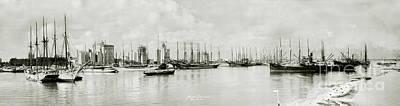 Miami Skyline Photograph - Miami, Florida Circa 1925  by Jon Neidert