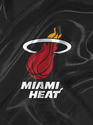 Fan Art Digital Art - Miami Heat by Afterdarkness