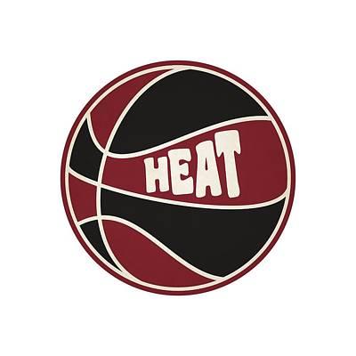 Miami Heat Retro Shirt Print by Joe Hamilton