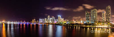 Miami Skyline Photograph - Miami Skyline by Abe Pacana