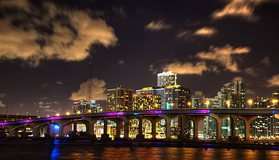 Miami Skyline Photograph - Miami Skyline by Shawn Everhart