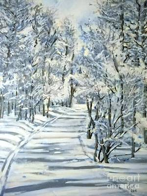 Cross-country Skiing Painting - Micas Mile- Sundance Nordic Center by Cami Lee