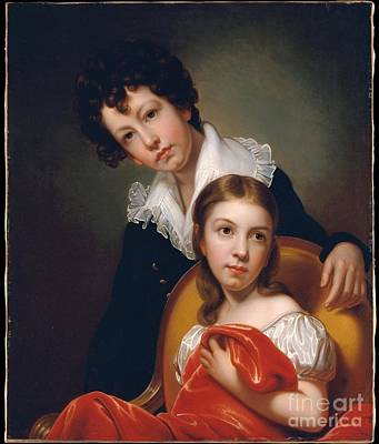 Michael Angelo And Emma Clara Peale  Print by Celestial Images