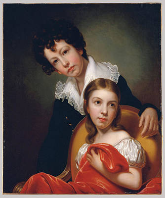 Michael Angelo And Emma Clara Peale Print by MotionAge Designs