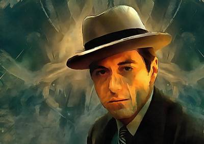 Francis Ford Coppola Digital Art - Michael Corleone by Dan Sproul