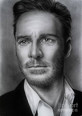 Hunk Drawing - Michael Fassbender by Adjie Ananto