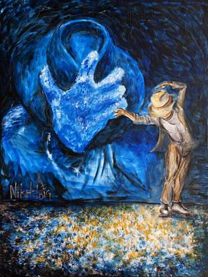 Michael Jackson Painting - Michael Jackson - Forever by Nik Helbig