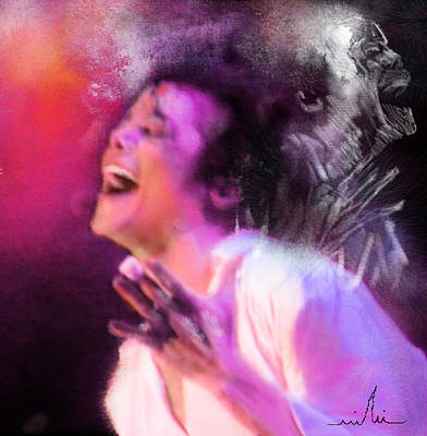 Michael Jackson Digital Art - Michael Jackson 11 by Miki De Goodaboom