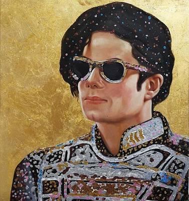 Michael Jackson Oil Painting - Michael Jackson 70cmx70cm by Global Artwork