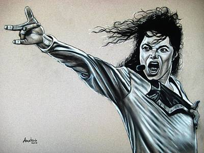 Michael Jackson Drawing - Michael Jackson by Anastasis  Anastasi
