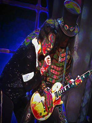 Slash Digital Art - Michael Jackson And Slash by  Fli Art
