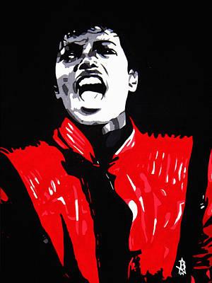 Mj Painting - Michael Jackson by Angelee Borrero