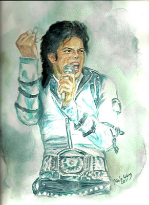 Michael Jackson Bad Tour Print by Nicole Wang