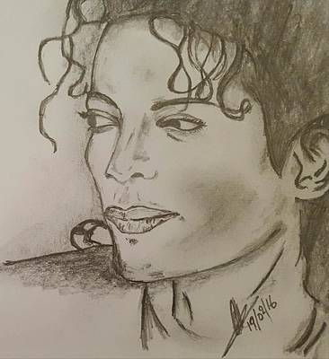 Michael Jackson Art Drawing - Michael Jackson by Collin A Clarke