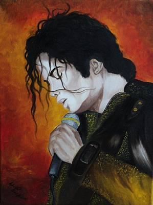 Michael Jackson Oil Painting - Michael Jackson by Lyudmila Kotok