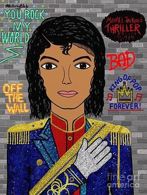 Mj Painting - Michael Jackson by Mallory Blake