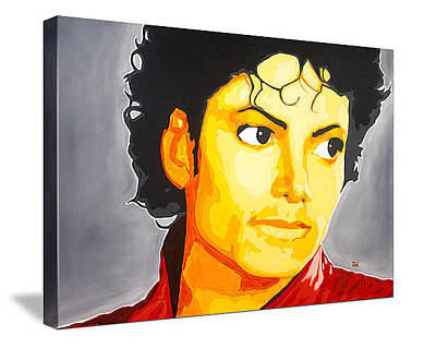 Michael Jackson Oil Painting - Michael Jackson Portrait by Andre Woolery