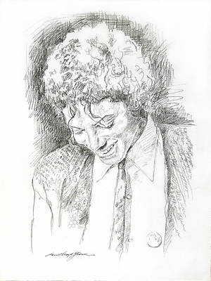People Drawing - Michael Jackson - Remember The Time by David Lloyd Glover