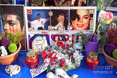Michael Jackson Shrine Print by John Rizzuto