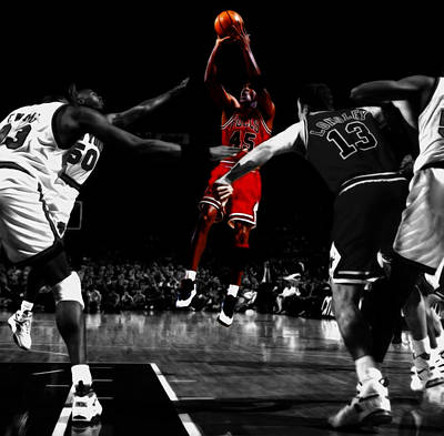 Michael Jordan Back From Retirement Print by Brian Reaves