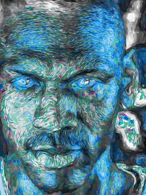 Michael Jordan Digital Painting 3 Print by David Haskett