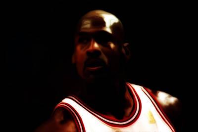 Michael Jordan Game Time Print by Brian Reaves