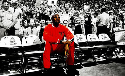 Michael Jordan Ready To Go Print by Brian Reaves