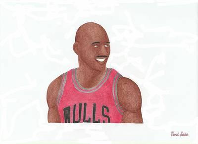 Michael Jordan Print by Toni Jaso
