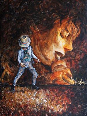 Michael Jackson Painting - Michael Lives by Nik Helbig