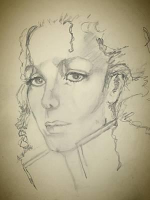 Michael, Pencil Sketch Print by  Anne Buffington