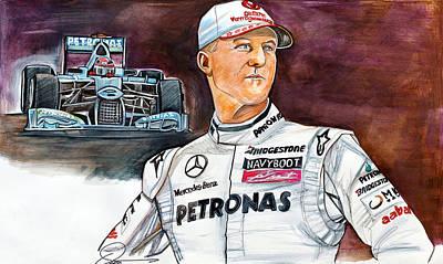 Michael Schumacher Print by Dave Olsen