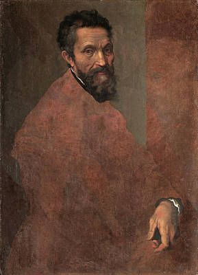 Daniele Da Volterra Painting - Michelangelo Buonarroti by Daniele da Volterra