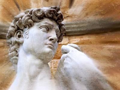 Michelangelo's David 2  Print by Jen White