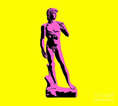 Michelangelos David - Punk Style Print by Pixel Chimp
